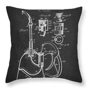 Oil Can Patent From 1903 - Dark Throw Pillow