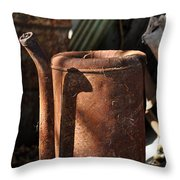 Oil Can Picking Throw Pillow