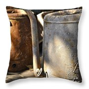 Oil Cans Picking Throw Pillow