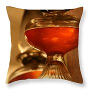 Oil Lamp In Red Throw Pillow