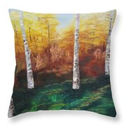 Oil Msc 005  Throw Pillow