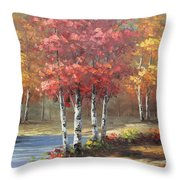 Oil Msc 049 Throw Pillow