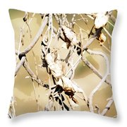 Oil Painting - A Cross Link Fence Throw Pillow