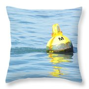 Oil Painting - A Floating Marker Throw Pillow