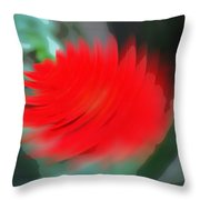 Oil Painting - A Spinning Effect To A Flower Throw Pillow