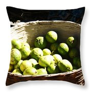 Oil Painting - Based Full Of Guavas Throw Pillow