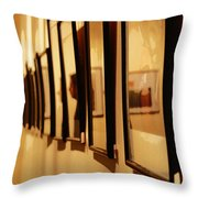 Oil Painting - Getting Framed Throw Pillow