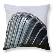 Oil Painting - One Of The Conservatories Of The Gardens By The Bay In Singapore Throw Pillow