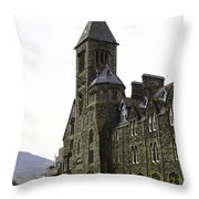 Oil Painting - Repair Of The Benedictine Abbey At Fort Augustus Now Apartments Throw Pillow