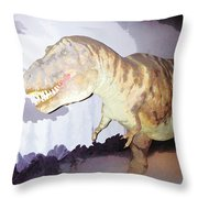 Oil Painting - Thankfully This T Rex Is A Dummy Throw Pillow