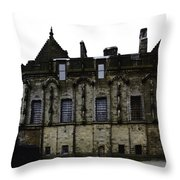 Oil Painting - The Royal Palace Inside Stirling Castle In Scotland Throw Pillow