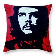 Original Oil Painting Art -ernesto Guevara#16-2-5-30 Throw Pillow