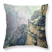 Oil Painting - Majestic Canyon Throw Pillow