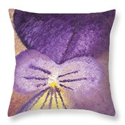 Oil Painting Of Pansy - Viola Tricolor Throw Pillow