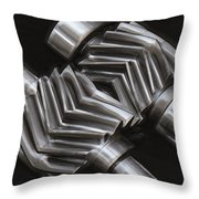 Oil Pump Gears Throw Pillow