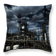 Oil Refinery Sinclair Wyoming Throw Pillow