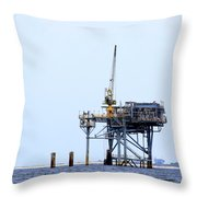 Oil Rig In The Gulf Throw Pillow