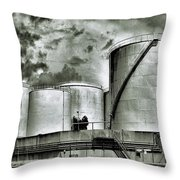 Oil Storage Tanks 1 Throw Pillow