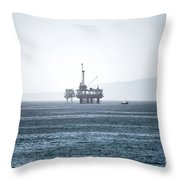 Oil Tower Throw Pillow