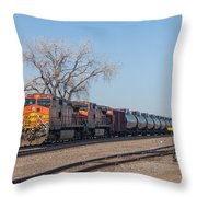 Bnsf Oil Train In Dilworth Minnesota Throw Pillow