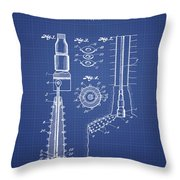 Oil Well Reamer Patent From 1924 - Blueprint Throw Pillow