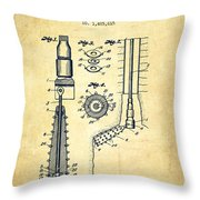 Oil Well Reamer Patent From 1924 - Vintage Throw Pillow
