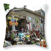 Oj House 3 Throw Pillow