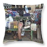 Oj House Detail Throw Pillow