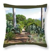 Ojai Desert Garden Throw Pillow