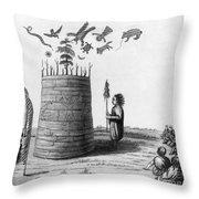 Ojibwa Medicine Man - To License For Professional Use Visit Granger.com Throw Pillow