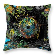 Eye In A Cave Throw Pillow
