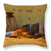 Ok Corral Victim Throw Pillow
