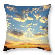 Okavango Delta Sunset Throw Pillow