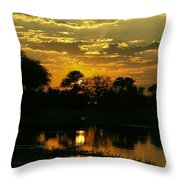 Okavango Sunset Throw Pillow
