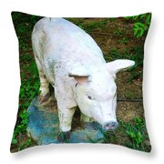 Okay To Be Disgruntled In Grandma's Garden So Long As You Look Cute Throw Pillow