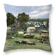 Oklahoma City, 1889 Throw Pillow