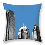 Oklahoma City Skyline - Slate Throw Pillow