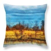 Oklahoma Hay Rolls Photo Art 03 Throw Pillow