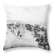 Oklahoma Land Rush Throw Pillow
