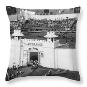 Oklahoma Prison Rodeo Throw Pillow