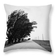 Oklahoma Route 66 2012 Bw Throw Pillow