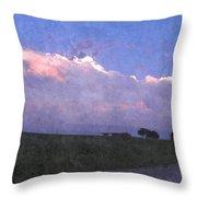 Oklahoma Storm Clouds 1 Throw Pillow