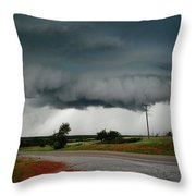 Oklahoma Wall Cloud Throw Pillow