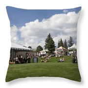 Oktoberfest Woodland Park 2014 Throw Pillow