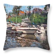 Olcott Yacht Club Throw Pillow