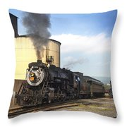 Old 3254 Heading Down The Line Throw Pillow