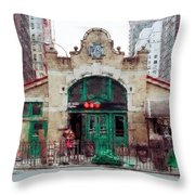 Old 72nd Street Station - New York City Throw Pillow