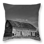 Old Abandoned Barn - D Rd Nw - Douglas County - Washington - May 2013 Throw Pillow