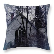 Old Abandoned Church Throw Pillow