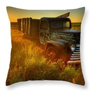 Old Abandoned Farm Truck Throw Pillow